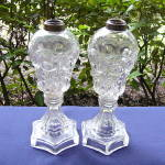 Bull�s Eye and Fleur-de-Lys Lamps (pair)