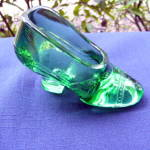 Emerald Green Glass Slipper