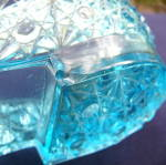 Click to view larger image of Low Cut Blue Glass Shoe (Image7)