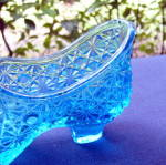 Click to view larger image of Sapphire Blue Duncan Glass Shoe (Image7)