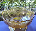 Click to view larger image of Rose Sprig Amber Compote (Image3)