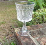 Click to view larger image of Vaulted Smocking Flint Goblet (Image1)