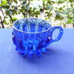 Click to view larger image of Broken Column Cobalt Custard Cup (Image1)
