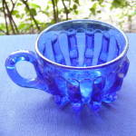 Click to view larger image of Broken Column Cobalt Custard Cup (Image2)