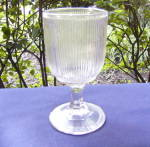 Antique Glass Fine Rib Goblet
