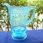 Click here to enlarge image and see more about item 6379: Wildflower Blue Water Pitcher