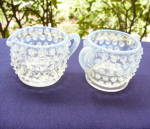Fenton Hobnail Creamer and Sugar