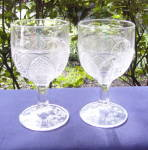 Click to view larger image of EAPG Palmette Goblets (2) (Image1)
