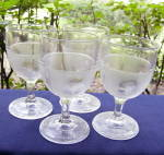 Click to view larger image of Beaded Grape Medallion Goblets (set of 4) (Image1)