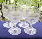 Beaded Grape Medallion Goblets (set of 4)