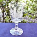 Click to view larger image of Gillinder Etched Lily of the Valley Goblet (Image1)