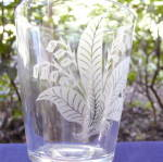 Click to view larger image of Gillinder Etched Lily of the Valley Goblet (Image2)