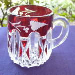 Click to view larger image of  EAPG Triple Triangle Ruby Mug (Image1)