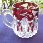 Click to view larger image of  EAPG Triple Triangle Ruby Mug (Image2)