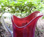 Click to view larger image of Kings Crown Ruby Thumbprint Tumblers and Pitcher (Image4)