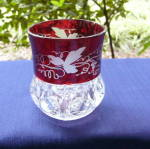 Click to view larger image of Kings Crown Ruby Thumbprint Tumblers and Pitcher (Image6)