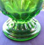 Click to view larger image of Emerald Green Fleur de Lis Water Pitcher      (Image3)