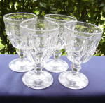 Click here to enlarge image and see more about item 6467:  Flint Excelsior Goblets (set of 4)