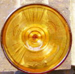 Click to view larger image of Rose Sprig Amber Goblet (Image3)
