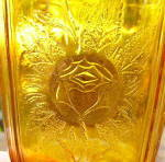 Click to view larger image of Rose Sprig Amber Goblet (Image5)