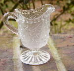 Click here to enlarge image and see more about item A180: English Toy Flint Glass Creamer