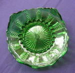 Click here to enlarge image and see more about item Flda2: Florida Emerald Green Herringbone Plate