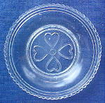 Click here to enlarge image and see more about item LR479: LR #479 - Heart Cup Plate