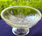 Click to view larger image of Pressed Leaf Flint Compote (Image1)