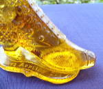 Click to view larger image of Amber Boot Novelty Bouquet Holder (Image6)