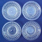 Click here to enlarge image and see more about item R147: Baby Thumbprint Flint Sauce/Honey Dishes
