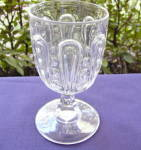 Click here to enlarge image and see more about item R173X: Hairpin with Thumbprint Flint Goblet