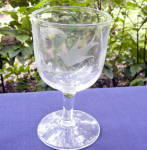 Click to view larger image of Wheel Cut and Etched Bird and Fern Goblet (Image2)