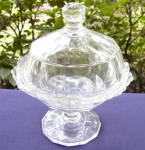 Click here to enlarge image and see more about item S191: Duncan Ribbon Butter Dish