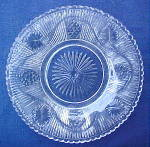Click here to enlarge image and see more about item W167: Ribbed Grape Plate