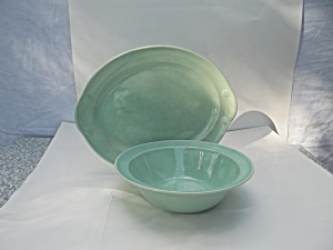 Lu-Ray Pastels Green Nappy Bowl and Platter (Image1)