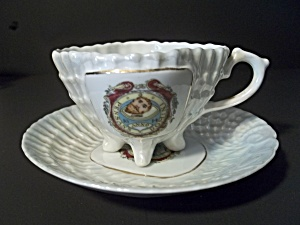 Victoria China Vintage Demi Teacup And Saucer
