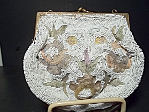 Vintage French Beaded Evening Bag