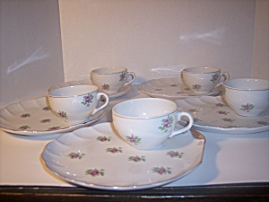 White Porcelain, Fine China Luncheon Set