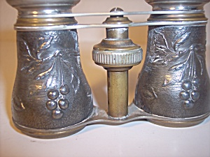 Antique French Repousse Bird And Berries Opera Glasses
