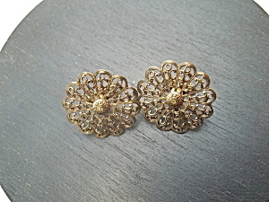 Vintage Filligree Cuff Links (Image1)