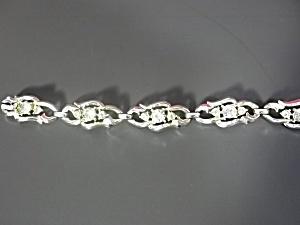 Vintage Coro Silver Tone Rhinestone Bracelet (Image1)