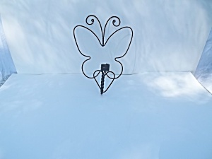 Wrought Iron Butterfly Candle Holder (Image1)