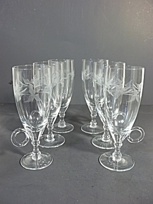 Etched Wine Glass With Handle