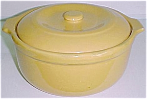 GARDEN CITY POTTERY LARGE YELLOW CASSEROLE! (Image1)