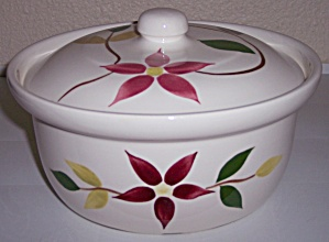 NASCO BLUE RIDGE POTTERY STARFLOWER CASSEROLE W/LID! (Image1)