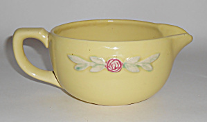 Coors Pottery Rosebud Yellow Small Handled Batter Bowl