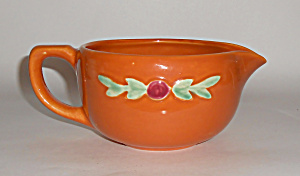 Coors Pottery Rosebud Orange Small Handled Batter Bowl