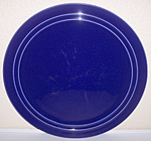 PACIFIC POTTERY HOSTESS WARE COBALT CAKE PLATE (Image1)