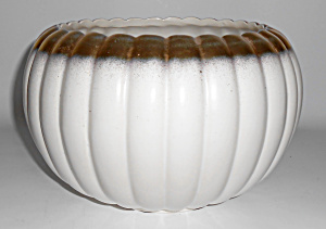 BAUER POTTERY TRACY IRWIN LARGE PUMPKIN BOWL! (Image1)