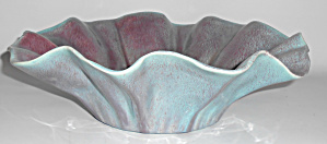 Pacific Pottery Blue/Purple Ruffled Rim Art Bowl!  MINT (Image1)